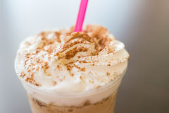 Frappe Coffee With Chocolate Topping Stock Image