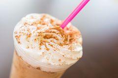 Frappe Coffee With Chocolate Topping Stock Images