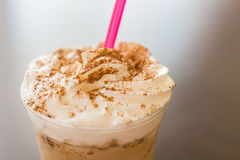 Frappe Coffee With Chocolate Topping Stock Photo