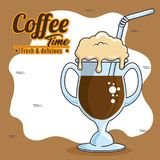 Frappe and cold drink coffee. Vector illustration graphic design Royalty Free Stock Photos