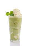 Frappe do chá verde fotografia de stock