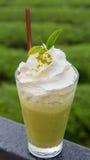 Frappe för grönt te Arkivfoton