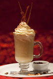 Frappe. Iced cafe frappe with caramel Royalty Free Stock Photo
