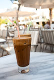 Frappes on a cafe table Royalty Free Stock Image