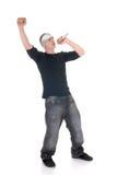 Frappeur d'houblon de gratte-cul, chanteur Photo libre de droits