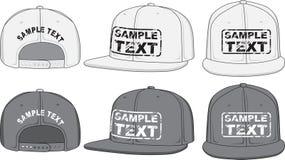 Frappez le chapeau, l'avant, le dos et la vue de côté Vecteur Photos stock