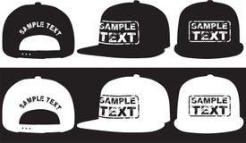 Frappez le chapeau, l'avant, le dos et la vue de côté Vecteur Photo stock