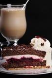 Frappuccino con la torta Imagenes de archivo