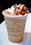 Frappuccino. Topping with whip cream Royalty Free Stock Photography