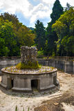 Frascati fountain turned off and empty. Fountain in the villa at Frascati in Rome Royalty Free Stock Photos