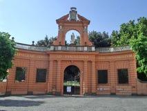 Frascati, l'accesso del parco di ombrellino Fotografia Stock Libera da Diritti