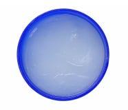 Frasco azul da pomada Fotografia de Stock