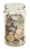 Frasco com dinheiro Fotos de Stock