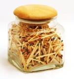 Frasco completamente dos matchsticks Fotografia de Stock