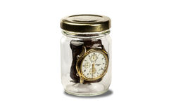 Frasco con reloj Στοκ φωτογραφία με δικαίωμα ελεύθερης χρήσης