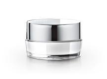 Frasco cosmético branco Imagem de Stock Royalty Free