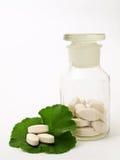 Frasco da farmácia dos comprimidos Fotografia de Stock Royalty Free