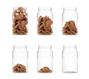 Frasco das cookies Fotografia de Stock