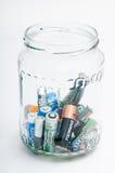 Frasco de baterias Fotografia de Stock Royalty Free