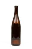 Frasco de Brown do álcool Fotografia de Stock