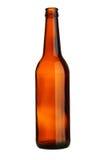 Frasco de cerveja vazio fotografia de stock
