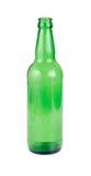 Frasco de cerveja verde vazio Fotos de Stock Royalty Free