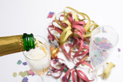 Frasco de Champagne Fotos de Stock Royalty Free