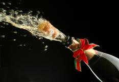 Frasco de Champagne pronto para a celebração Imagens de Stock Royalty Free