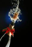 Frasco de Champagne pronto para a celebração Fotos de Stock