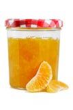 Frasco de Marmelade com fruta Fotografia de Stock Royalty Free