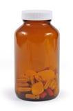 Frasco de medicaciones Foto de archivo libre de regalías
