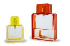 Frasco de perfume dois isolado Fotos de Stock Royalty Free
