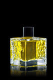 Frasco de perfume isolado no preto fotografia de stock royalty free