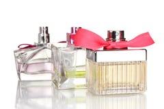 Frasco de perfume três   Imagens de Stock