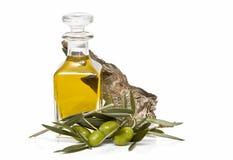 Frasco de petróleo verde-oliva. Fotos de Stock