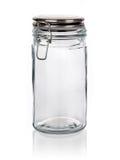 Frasco de vidro da cozinha isolado no branco Foto de Stock