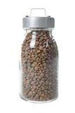 Frasco de vidro das lentilhas Fotografia de Stock Royalty Free