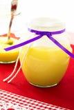 Frasco de vidro do coalho de limão Imagem de Stock Royalty Free