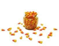 Frasco de vidro do milho de doces Imagem de Stock Royalty Free