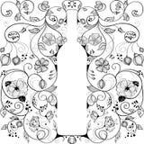Frasco de vinho abstrato Imagem de Stock Royalty Free