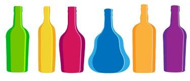 Frasco do álcool da silhueta da ilustração do vetor Foto de Stock Royalty Free