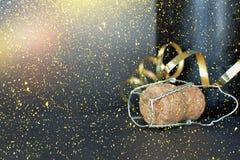 Frasco do champanhe Ano novo feliz Imagens de Stock