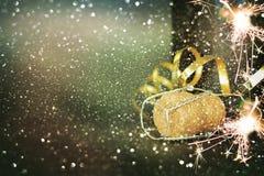 Frasco do champanhe Ano novo feliz Imagem de Stock Royalty Free