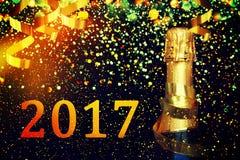 Frasco do champanhe Fundo do Natal Foto de Stock