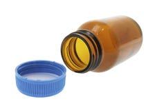 Frasco do comprimido Fotografia de Stock