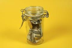 Frasco do dinheiro Imagens de Stock