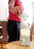 Frasco do dinheiro Fotos de Stock Royalty Free