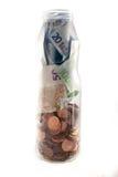 Frasco do dinheiro Fotos de Stock