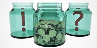Frasco do dinheiro das economias Imagem de Stock Royalty Free