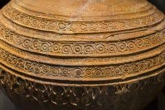 Frasco do earthnware do al-Andalus decorado com testes padrões do intrincate imagens de stock royalty free